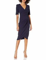 Adrianna Papell Women's Sleeveless Sheath Dress with Draped Details
