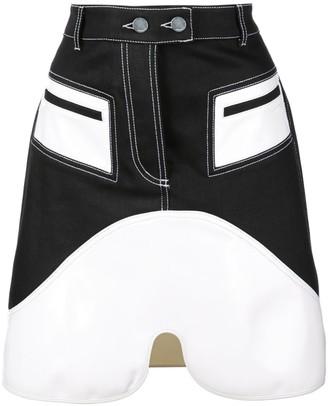 Ellery Contrast Panels Skirt