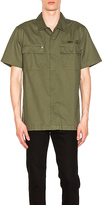 Obey Mission Military Button Down in Army. - size L (also in M,S)