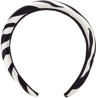 Jennifer Behr Tori Printed Headband in Zebra | FWRD