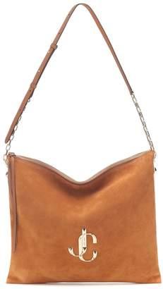 Jimmy Choo Varenne Large suede shoulder bag
