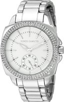Vince Camuto Women's VC/5263WTSV Swarovski Crystal Accented Silver-Tone Bracelet Watch