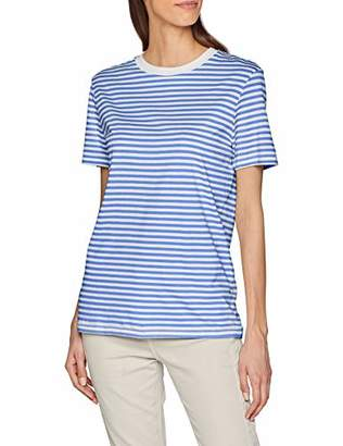 Selected Women's Slfmy Perfect Ss Tee Box Cut-STRI. Noos T-Shirt,14 (Size: Large)