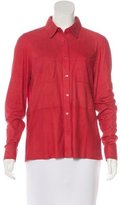 Equipment Suede Button-Up Top w/ Tags