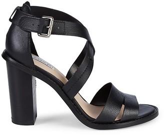 Tahari Crisscross Leather Heeled Sandals