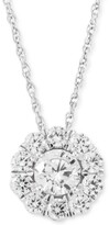 """Thumbnail for your product : Grown With Love Lab Grown Diamond Halo 18"""" Pendant Necklace (1 ct. t.w.) in 14k White Gold"""