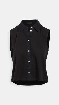 Theory Shrunken Button Down Shirt