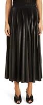 Givenchy Logo Waist Pleated Midi Skirt