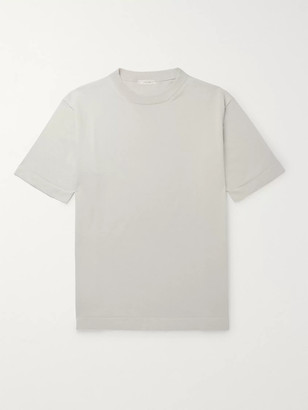The Row Roger Silk And Cotton-Blend T-Shirt