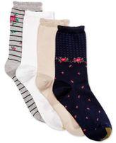 Gold Toe Women's 4-Pk. Spring Stripe Floral & Gingham Socks