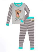 Intimo Gray Vintage Scooby-Doo Pajama Set - Boys
