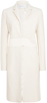 Amanda Wakeley Cream Sculpted Tailoring Crombie Coat