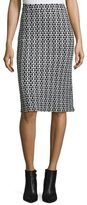 Derek Lam Crochet-Lace Pencil Skirt, Black/White
