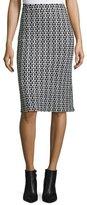 Derek Lam Crochet-Lace Pencil Skirt, Black/White