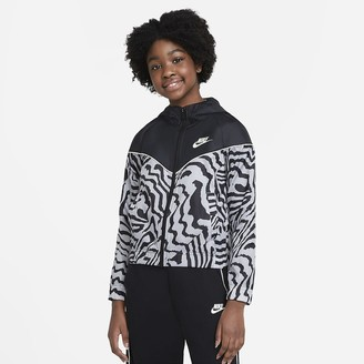 Nike Big Kids' (Girls') Printed Jacket Sportswear Windrunner