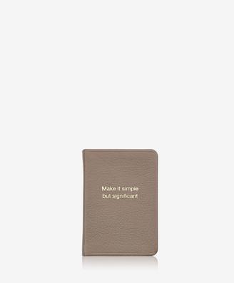 GiGi New York Significant - Mini Book, Taupe Goatskin Leather