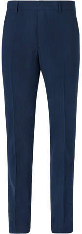 Prada Navy Slim-Fit Mélange Wool-Blend Suit Trousers