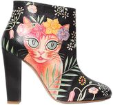 Camilla Elphick 105mm Cat Printed Leather Ankle Boots