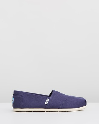 Toms Women's Navy Espadrilles - Canvas Classics - Women's - Size One Size, 9 at The Iconic