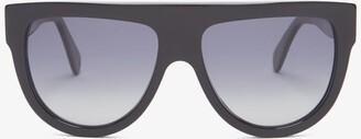 Celine Shadow D-frame Acetate Sunglasses - Black