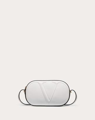 Valentino Vlogo Walk Calfskin Crossbody Bag Women Optic White 100% Pelle Di Vitello - Bos Taurus OneSize