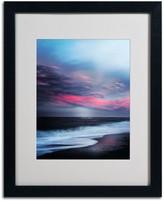 """Trademark Fine Art """"Salt Water Sound"""" Black Framed Wall Art"""