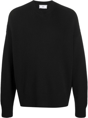 Ami Oversized Ribbed Crewneck Jumper