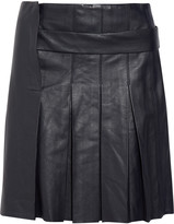 Iris and Ink Noa pleated stretch-leather mini skirt
