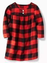 Old Navy Plaid Flannel Sleep Dress for Toddler Girls