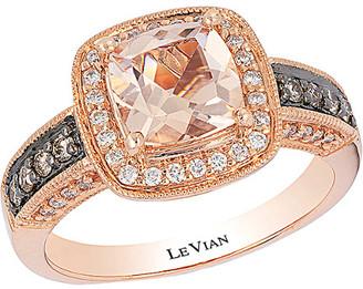 LeVian Le Vian 14K Rose Gold 1.33 Ct. Tw. Diamond & Morganite Ring