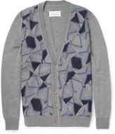 Maison Margiela Patchwork Patterned Wool Cardigan