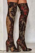 Nasty Gal nastygal Nobody's Flower Over-the-Knee Boot