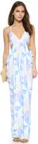 Mara Hoffman Fractals Turquoise Draped Dress