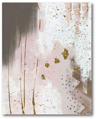 Oasis Courtside Market Wall Decor Pink & Gold Ii Gallery Wrapped Canvas Wall Art