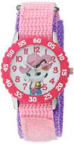 Disney Girl's 'Sheriff Callie' Quartz Stainless Steel and Nylon Watch, Color:Pink (Model: W003088)