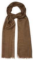 Lanvin Frayed-edge wool-blend scarf