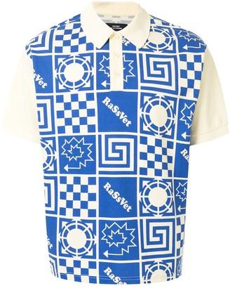 Paccbet Geometric-Print Polo Shirt