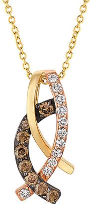 LeVian Le Vian Chocolatier 14K Tri-Color 0.35 Ct. Tw. Diamond Necklace