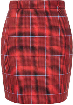 MSGM Prince Of Wales Checked Scuba Mini Skirt