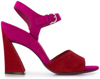 Salvatore Ferragamo side buckle sandals