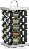 Martha Stewart Collection Square Stainless Steel Spice Rack, 21-Piece Set,