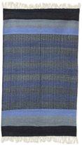 Novica Indian Blue Shadow Harmony Cotton Rug (3' x 5')
