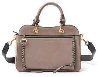 See by Chloe Logo Embossed Double Handle Tote Bag