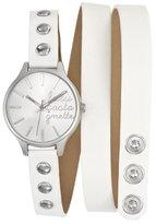 Lulu Castagnette 38741 Women's Quartz Analogue Watch-White Leather Strap Silver Dial