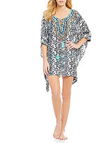 Gianni Bini Paisley Embroidered Dolman Tunic Cover-Up