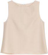 ADAM by Adam Lippes Faille Crop Top