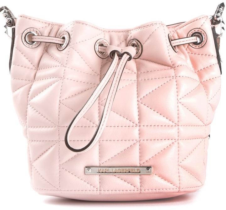 Karl Lagerfeld quilted lambskin shoulder bag