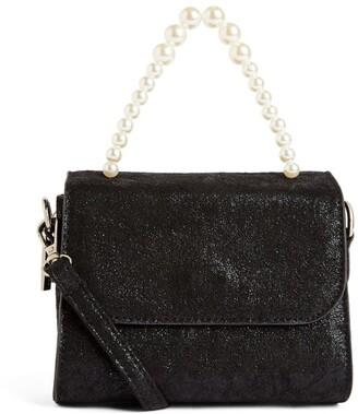 Bari Lynn Pearl-Embellished Shoulder Bag