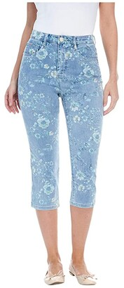 FDJ French Dressing Jeans Printed Denim Suzanne Capris in Denim (Denim) Women's Jeans
