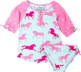 Hatley Rash Guard Set-Ponies/Polka Dots-4